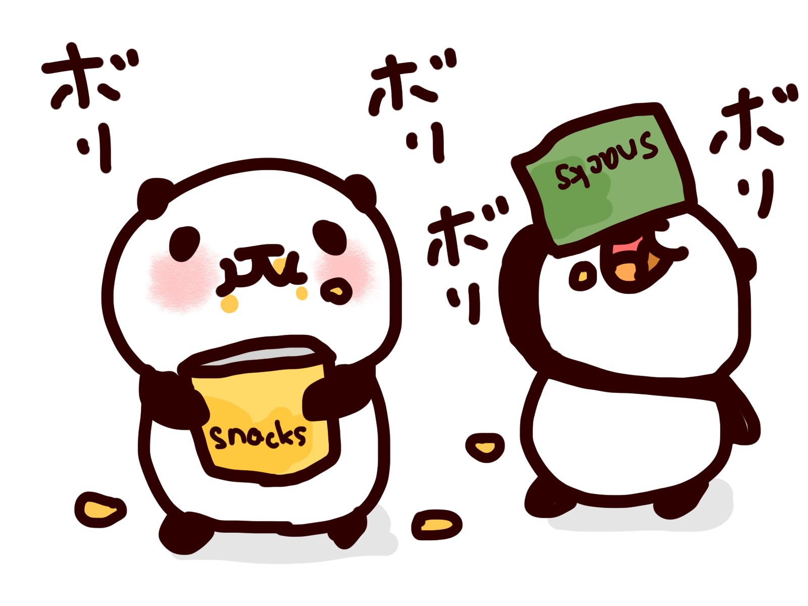 panda-eat-snack